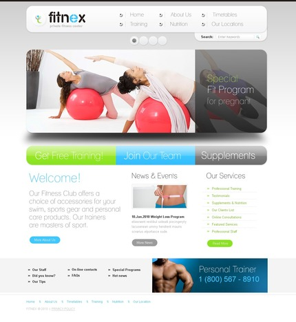 ADOBE Photoshop Template 54443 Home Page Screenshot
