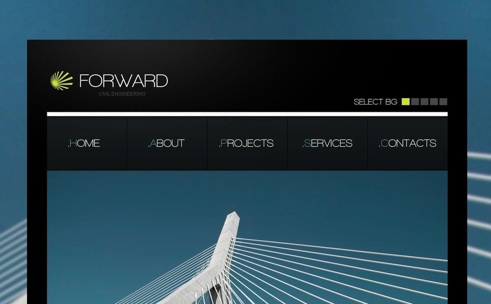 Szablon PSD #54444 na temat: inżynieria lądowa New Screenshots BIG