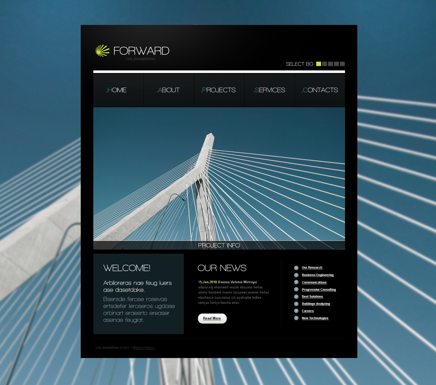 The Forward Civil Engineering PSD Design 54444, one of the best PSD templates of its kind (industrial, architecture, wide, jquery), also known as forward civil engineering PSD template, services PSD template, architecture company PSD template, construction PSD template, buildings PSD template, technology PSD template, innovation PSD template, skyscrapers PSD template, projects PSD template, constructions PSD template, houses PSD template, work PSD template, team PSD template, strategy PSD template, services PSD template, support PSD template, planning solutions design PSD template, non-standard PSD template, creative ideas PSD template, catalogue PSD template, windows PSD template, door and related with forward civil engineering, services, architecture company, construction, buildings, technology, innovation, skyscrapers, projects, constructions, houses, work, team, strategy, services, support, planning solutions design, non-standard, creative ideas, catalogue, windows, door, etc.