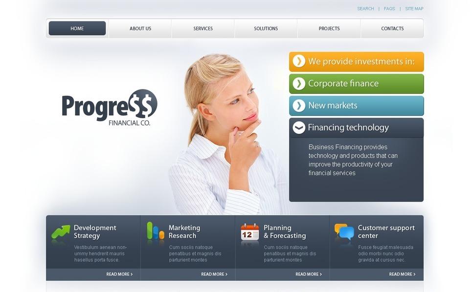 Plantilla PSD #54445 para Sitio de Asesor financiero New Screenshots BIG