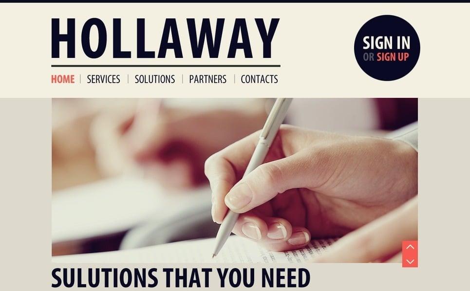 Modello PSD  #54446 per Un Sito di Business e Servizi New Screenshots BIG