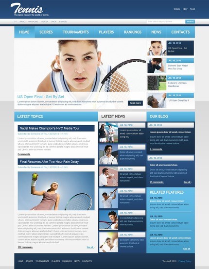 ADOBE Photoshop Template 54447 Home Page Screenshot