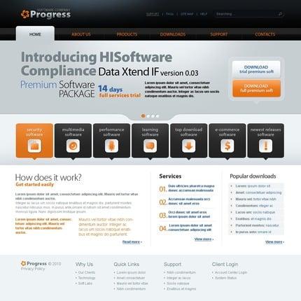ADOBE Photoshop Template 54453 Home Page Screenshot