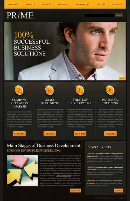 ADOBE Photoshop Template 54458 Home Page Screenshot