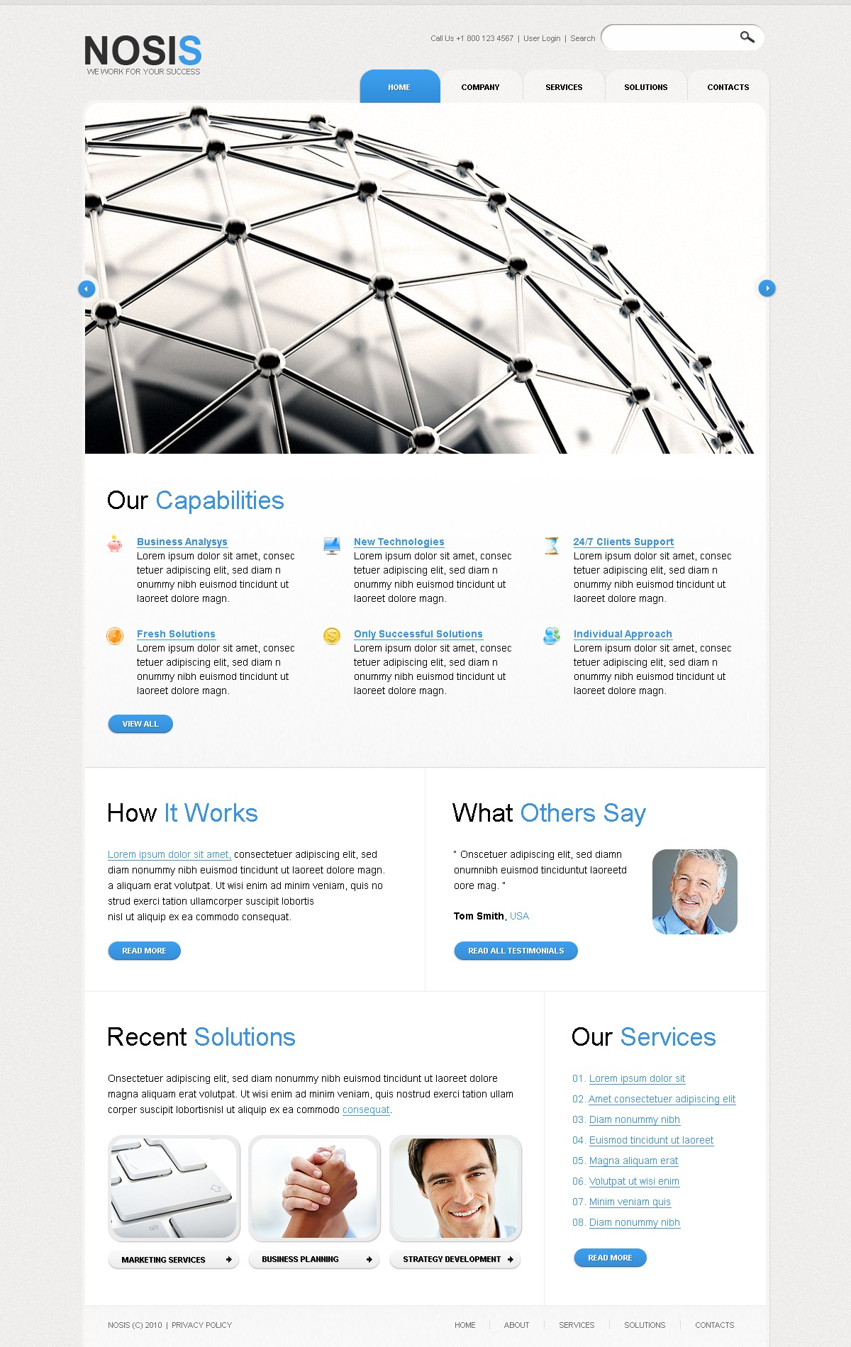 The Nosis Business Company PSD Design 54459, one of the best PSD templates of its kind (business, flash 8, wide), also known as nosis business company PSD template, corporate solutions PSD template, innovations PSD template, contacts PSD template, service PSD template, support PSD template, information dealer PSD template, stocks PSD template, team PSD template, success PSD template, money PSD template, marketing PSD template, director PSD template, manager PSD template, analytics PSD template, planning PSD template, limited PSD template, office PSD template, sales and related with nosis business company, corporate solutions, innovations, contacts, service, support, information dealer, stocks, team, success, money, marketing, director, manager, analytics, planning, limited, office, sales, etc.