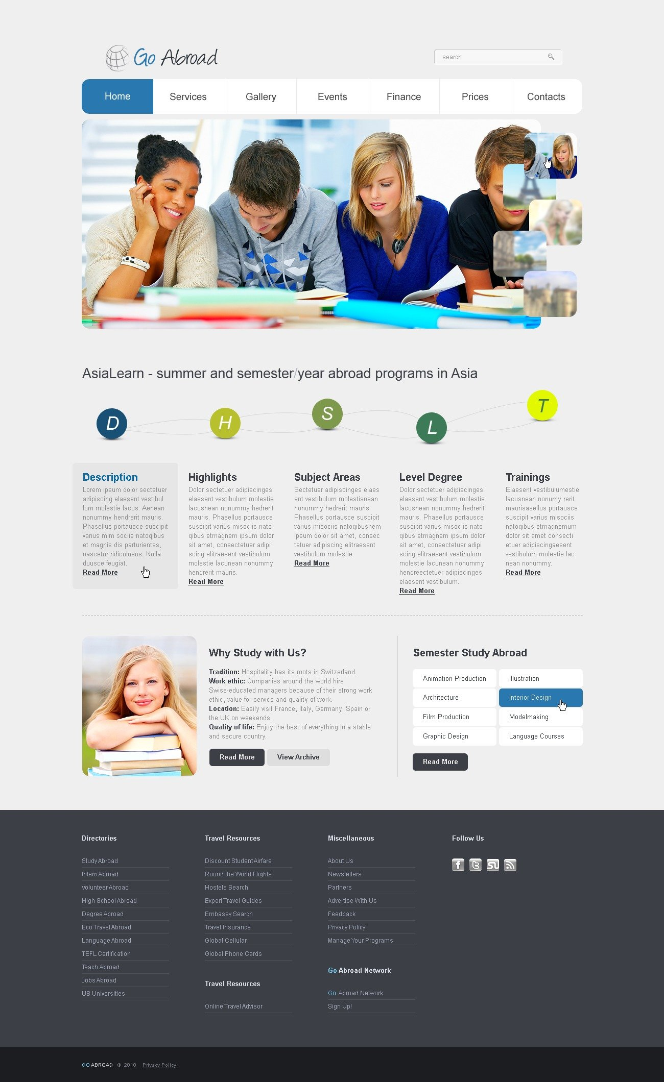 The Go Abroad PSD Design 54460, one of the best PSD templates of its kind (education, flash 8, wide), also known as go abroad PSD template, learning PSD template, education center PSD template, college PSD template, science PSD template, admission PSD template, faculty PSD template, department PSD template, class PSD template, alumni PSD template, student PSD template, professor PSD template, enrollment PSD template, union PSD template, library PSD template, auditorium PSD template, graduate PSD template, direction PSD template, tests PSD template, entrance PSD template, examination PSD template, exam PSD template, sport PSD template, community PSD template, party PSD template, administration PSD template, rector PSD template, head PSD template, dean PSD template, co and related with go abroad, learning, education center, college, science, admission, faculty, department, class, alumni, student, professor, enrollment, union, library, auditorium, graduate, direction, tests, entrance, examination, exam, sport, community, party, administration, rector, head, dean, co, etc.