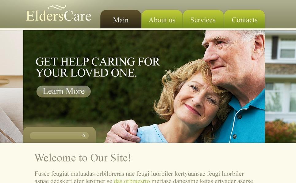Template Photoshop  para Sites de Assistência aos Idosos №54461 New Screenshots BIG