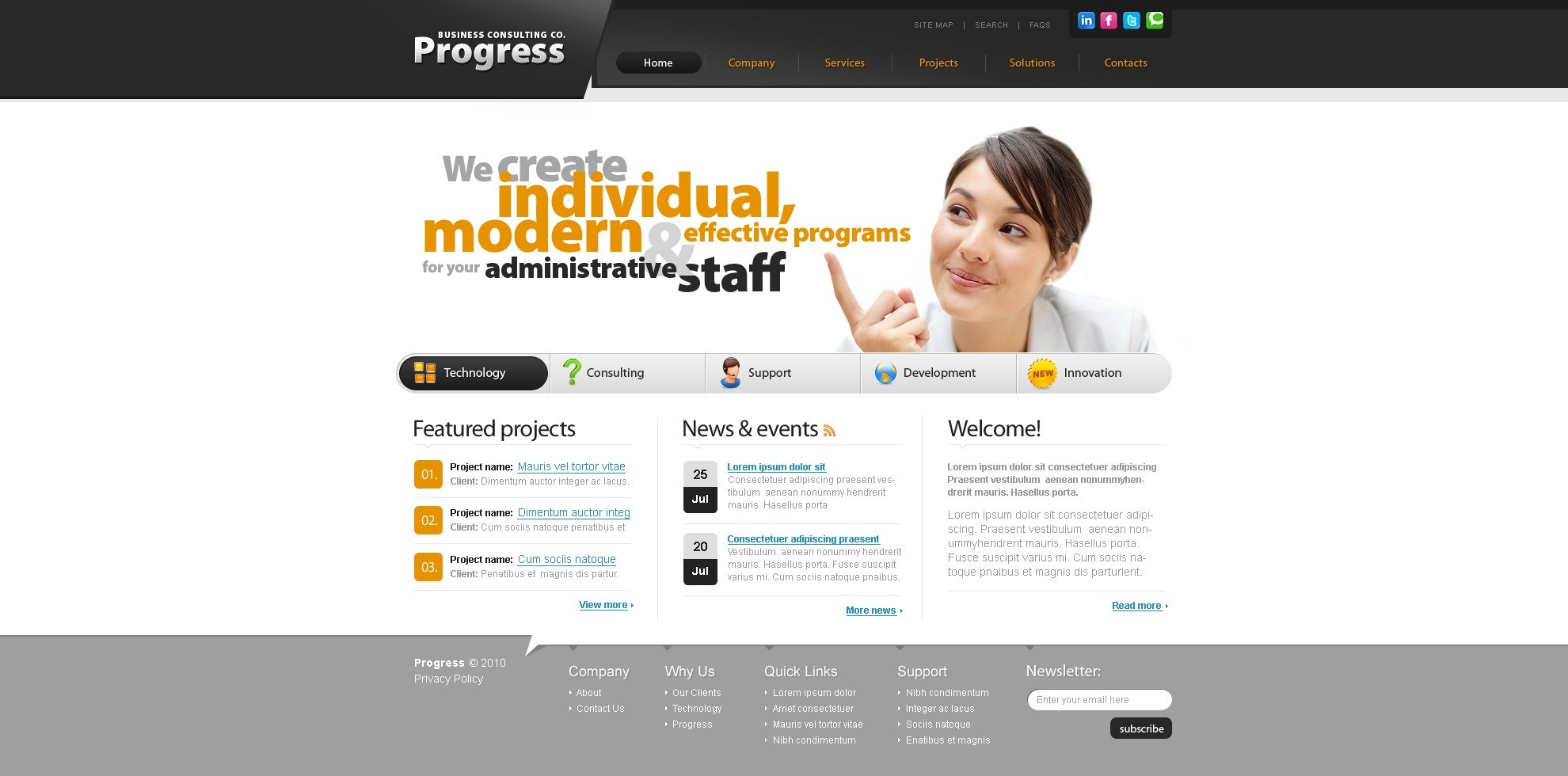 The Progress Business Company PSD Design 54462, one of the best PSD templates of its kind (business, flash 8, wide), also known as progress business company PSD template, corporate solutions PSD template, innovations PSD template, contacts PSD template, service PSD template, support PSD template, information dealer PSD template, stocks PSD template, team PSD template, success PSD template, money PSD template, marketing PSD template, director PSD template, manager PSD template, analytics PSD template, planning PSD template, limited PSD template, office PSD template, sales and related with progress business company, corporate solutions, innovations, contacts, service, support, information dealer, stocks, team, success, money, marketing, director, manager, analytics, planning, limited, office, sales, etc.