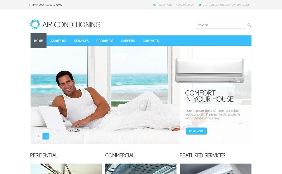 PSD Template over Airconditioning  New Screenshots BIG