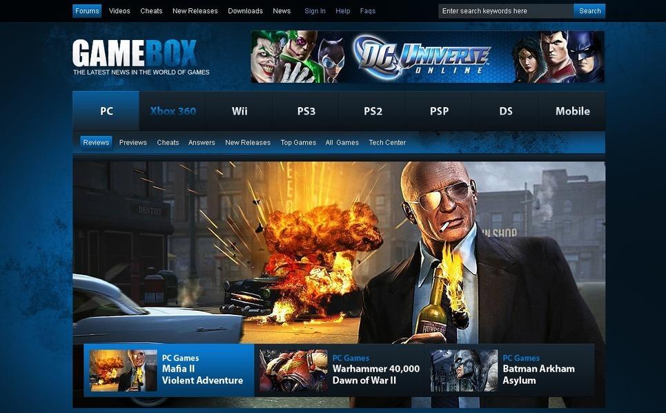 Template Photoshop  para Sites de Jogos №54465 New Screenshots BIG