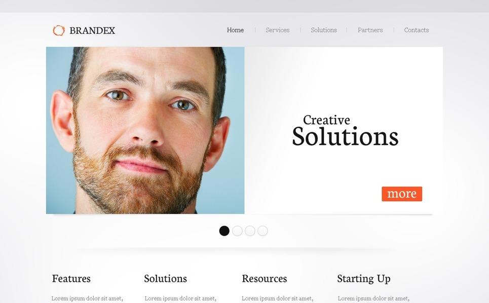 PSD шаблон №54466 на тему Бизнес и услуги New Screenshots BIG