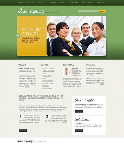 ADOBE Photoshop Template 54467 Home Page Screenshot