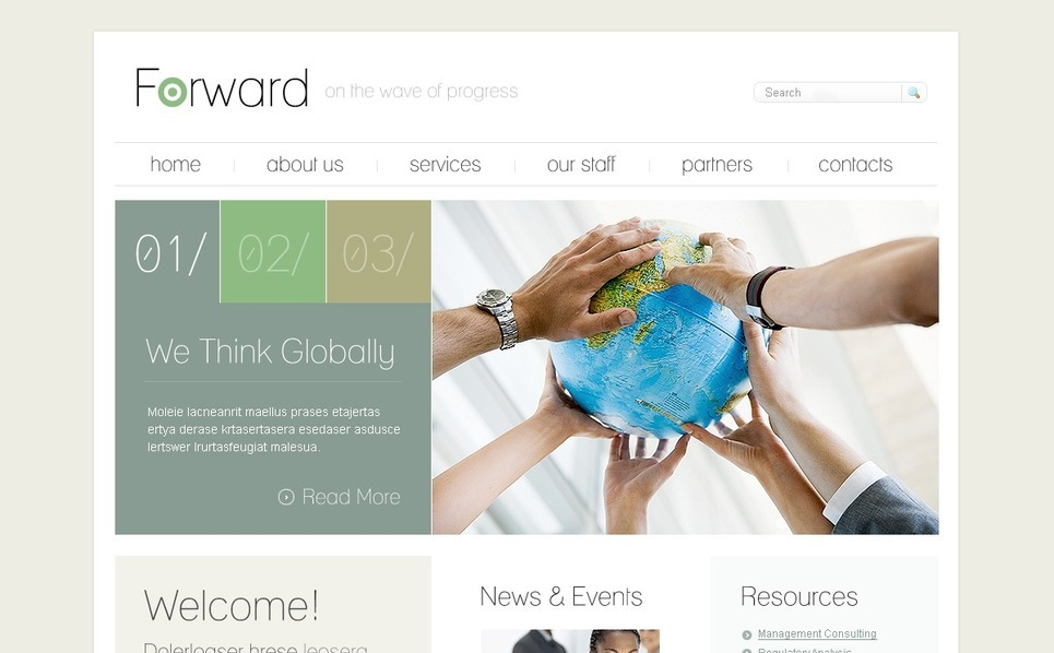 Template Photoshop  para Sites de Business & Services №54468 New Screenshots BIG