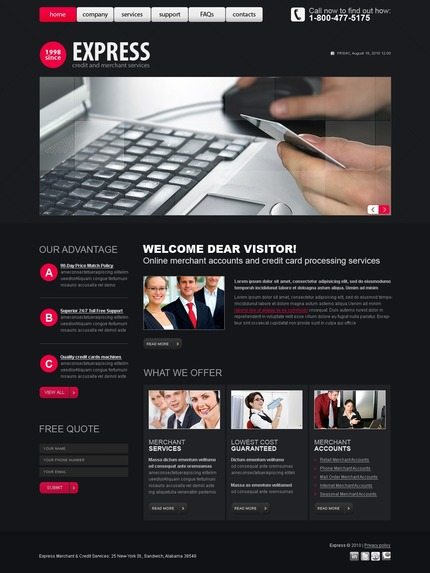ADOBE Photoshop Template 54470 Home Page Screenshot