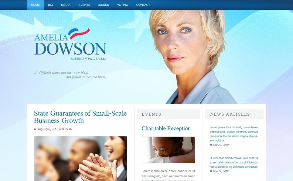 候选人网页PSD模板 New Screenshots BIG