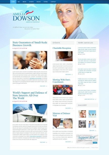 ADOBE Photoshop Template 54471 Home Page Screenshot