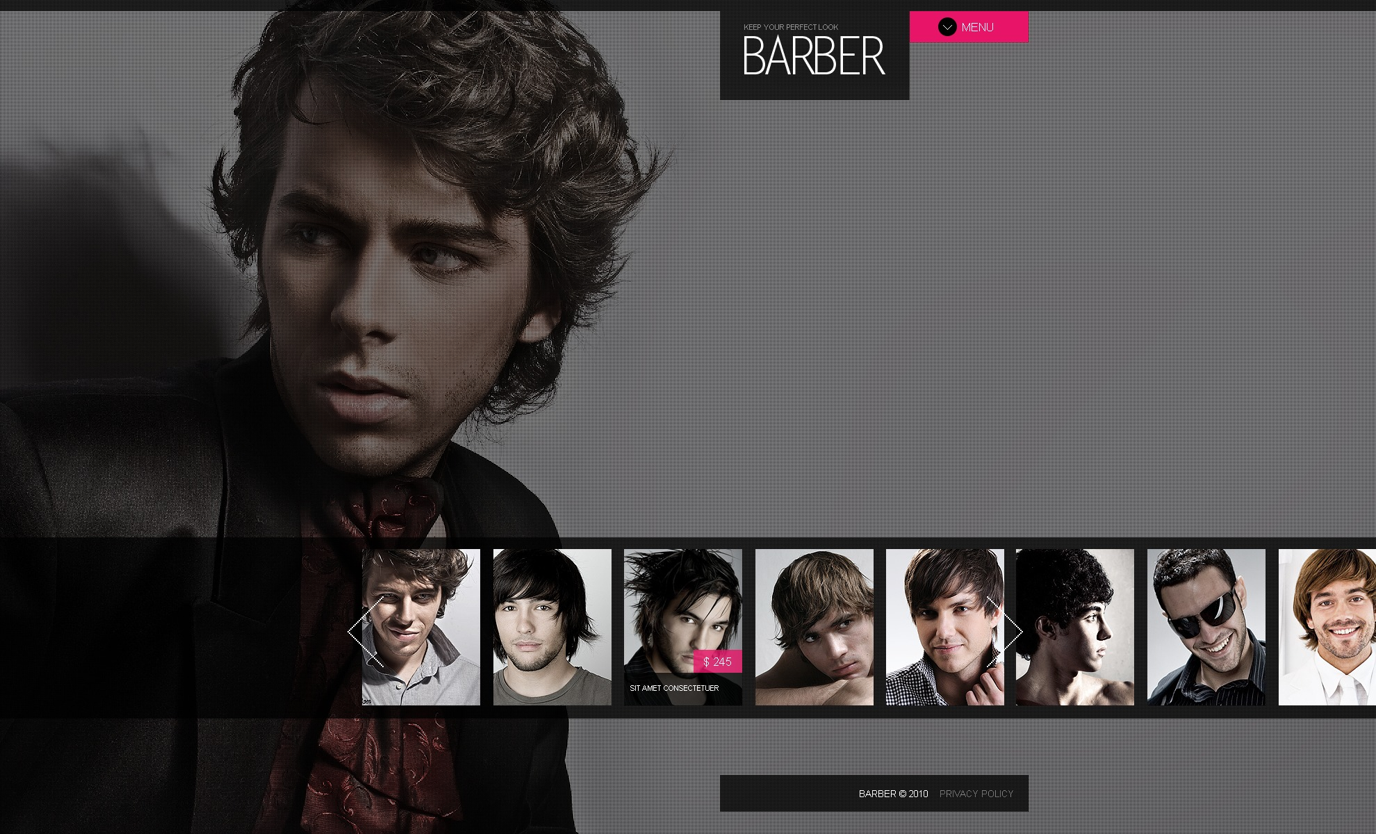 The Barber Siren PSD Design 54472, one of the best PSD templates of its kind (beauty, music, wide, jquery), also known as barber siren PSD template, barbershop PSD template, hair salon PSD template, fashion PSD template, style PSD template, services PSD template, models PSD template, catalogue PSD template, masters PSD template, experts PSD template, portfolio PSD template, awards PSD template, waving PSD template, arranging PSD template, coloring PSD template, advices PSD template, coiffure PSD template, hairdresser PSD template, glamour beauty PSD template, health and related with barber siren, barbershop, hair salon, fashion, style, services, models, catalogue, masters, experts, portfolio, awards, waving, arranging, coloring, advices, coiffure, hairdresser, glamour beauty, health, etc.