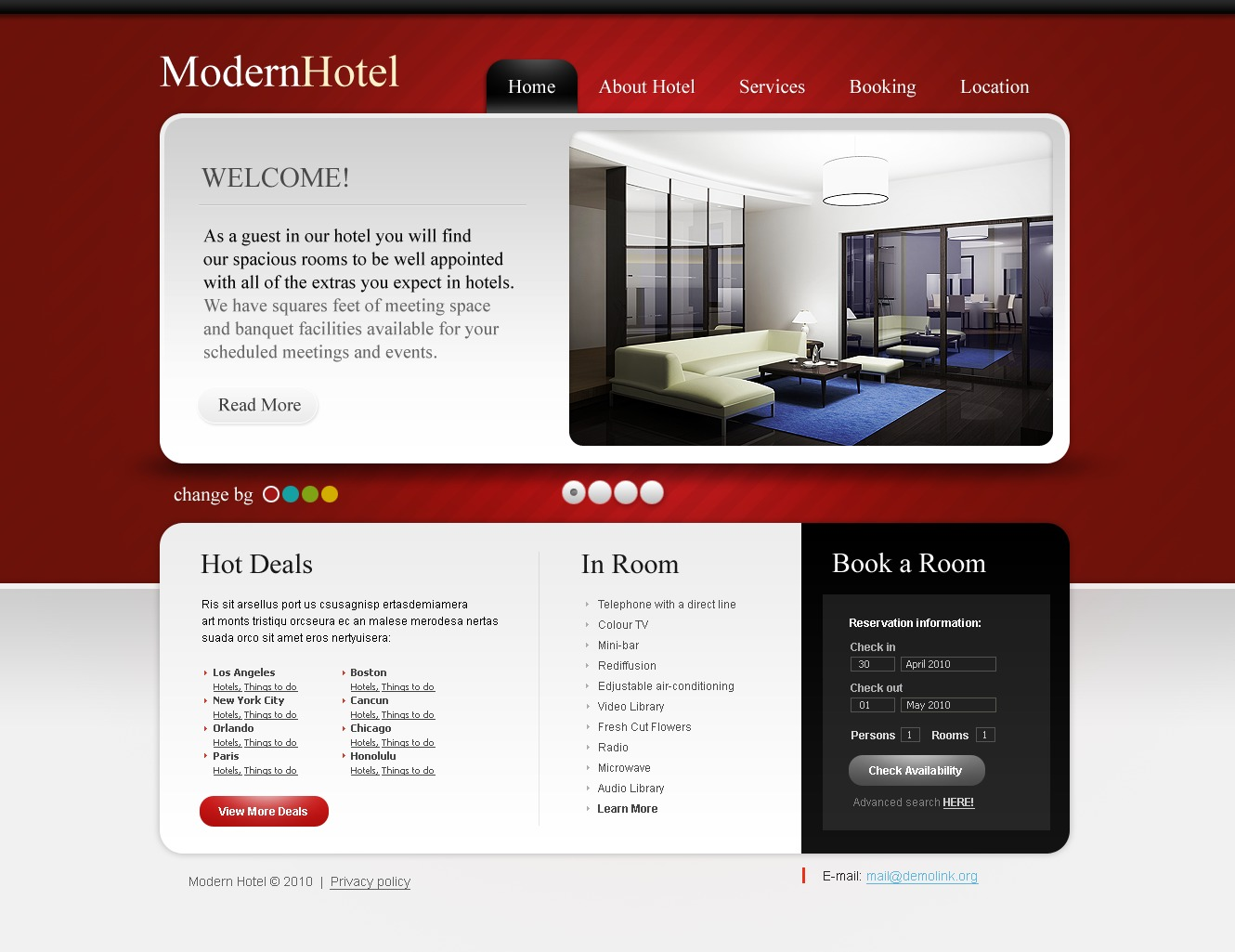 The Modern Hotel PSD Design 54477, one of the best PSD templates of its kind (hotels, wide, jquery), also known as modern hotel PSD template, royal motel PSD template, exotic PSD template, building PSD template, events PSD template, interior PSD template, cozy PSD template, comfortable room PSD template, spacious PSD template, light PSD template, modern rest PSD template, pool PSD template, floor PSD template, stairs PSD template, staff PSD template, reception PSD template, testimonial PSD template, service PSD template, offer PSD template, booking PSD template, reservation PSD template, order PSD template, location PSD template, security PSD template, wedding PSD template, cerem and related with modern hotel, royal motel, exotic, building, events, interior, cozy, comfortable room, spacious, light, modern rest, pool, floor, stairs, staff, reception, testimonial, service, offer, booking, reservation, order, location, security, wedding, cerem, etc.