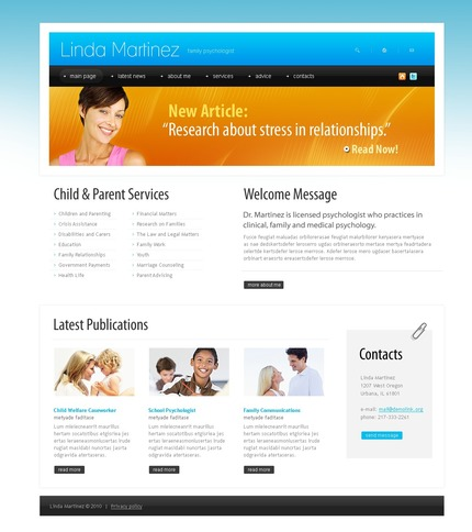 ADOBE Photoshop Template 54480 Home Page Screenshot