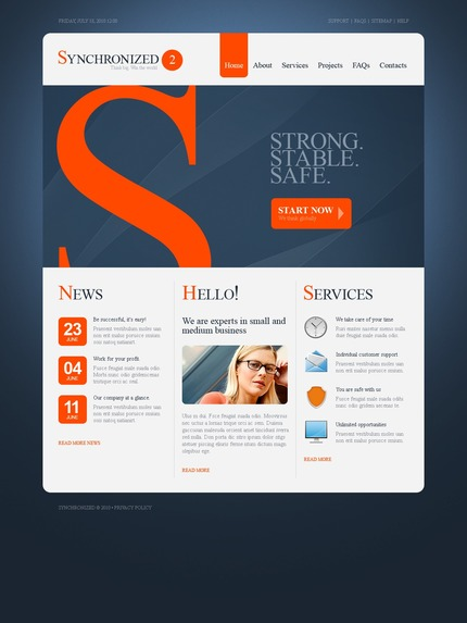 ADOBE Photoshop Template 54481 Home Page Screenshot