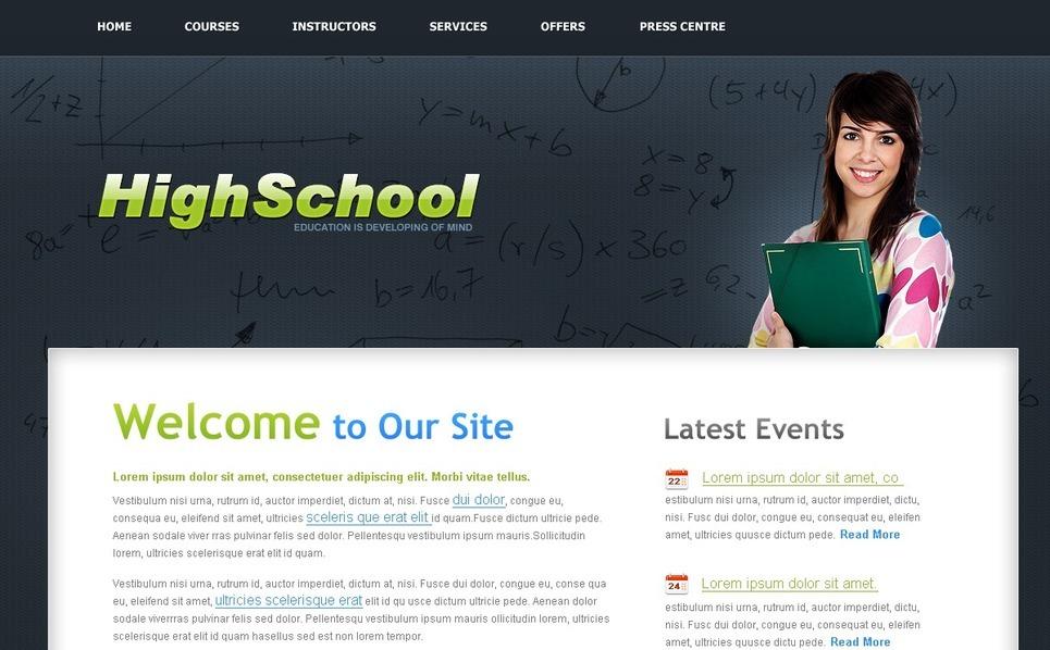 PSD шаблон №54482 на тему университет New Screenshots BIG