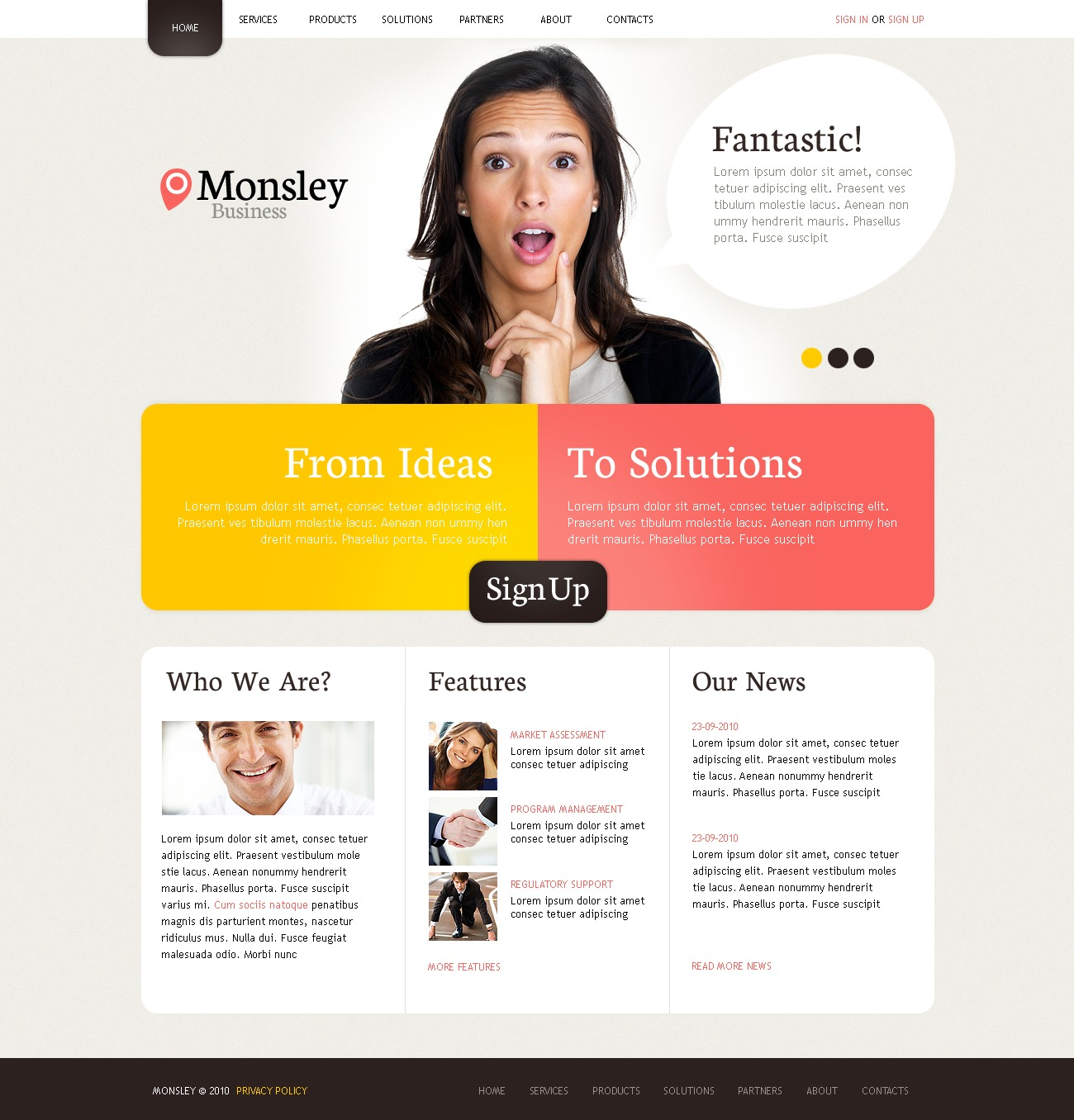 The Monsley Business Company PSD Design 54484, one of the best PSD templates of its kind (business, wide, jquery), also known as monsley business company PSD template, corporate solutions PSD template, innovations PSD template, contacts PSD template, service PSD template, support PSD template, information dealer PSD template, stocks PSD template, team PSD template, success PSD template, money PSD template, marketing PSD template, director PSD template, manager PSD template, analytics PSD template, planning PSD template, limited PSD template, office PSD template, sales and related with monsley business company, corporate solutions, innovations, contacts, service, support, information dealer, stocks, team, success, money, marketing, director, manager, analytics, planning, limited, office, sales, etc.