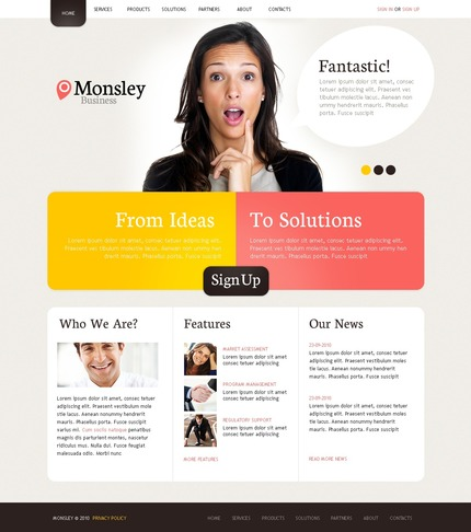 ADOBE Photoshop Template 54484 Home Page Screenshot