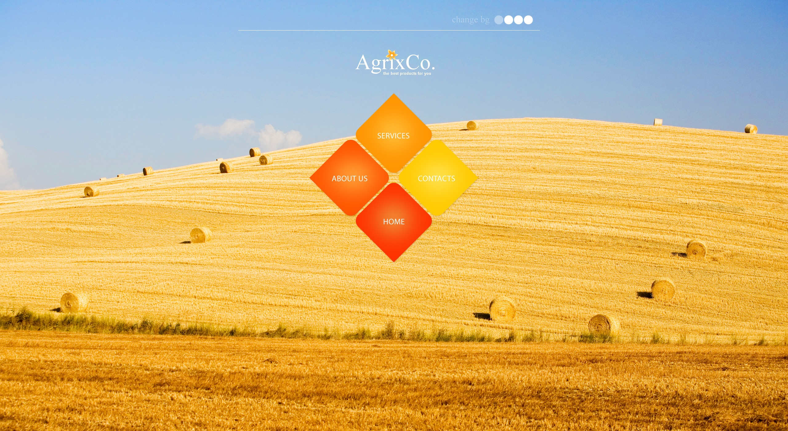 The Agrix Company PSD Design 54485, one of the best PSD templates of its kind (agriculture, wide, jquery), also known as agrix company PSD template, agriculture company PSD template, business PSD template, grain-crops PSD template, cereals PSD template, field PSD template, combine PSD template, harvest PSD template, farming PSD template, plants PSD template, services PSD template, products solutions PSD template, market PSD template, delivery PSD template, resource PSD template, grassland PSD template, equipment PSD template, nitrates PSD template, fertilizer PSD template, clients PSD template, partners PSD template, innovations PSD template, support PSD template, information dealer PSD template, stocks PSD template, team and related with agrix company, agriculture company, business, grain-crops, cereals, field, combine, harvest, farming, plants, services, products solutions, market, delivery, resource, grassland, equipment, nitrates, fertilizer, clients, partners, innovations, support, information dealer, stocks, team, etc.