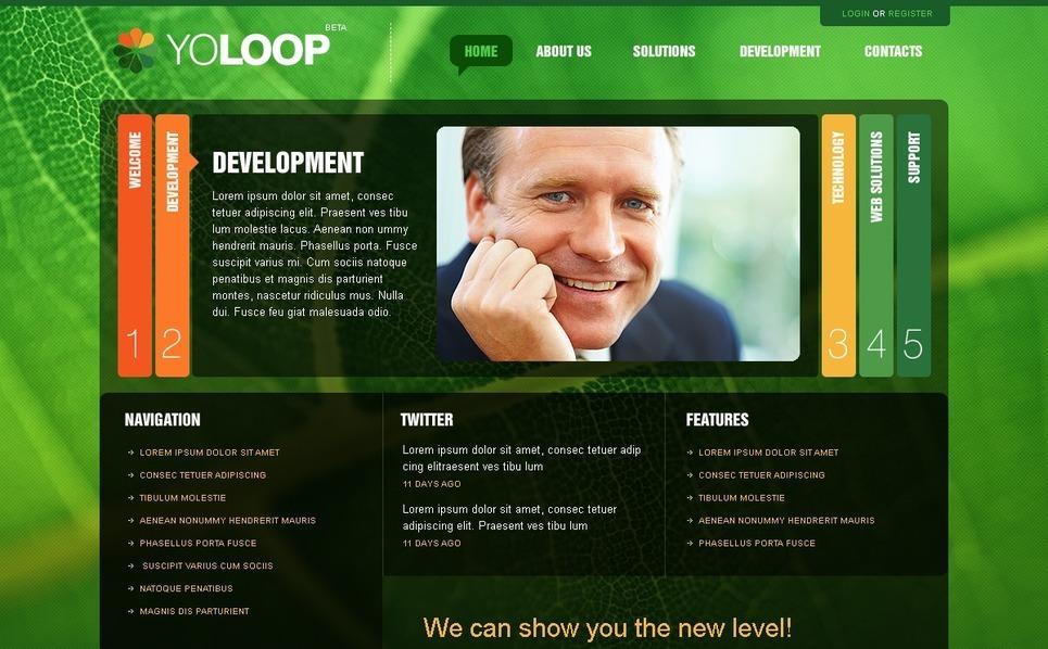 Modello PSD  #54488 per Un Sito di Business e Servizi New Screenshots BIG