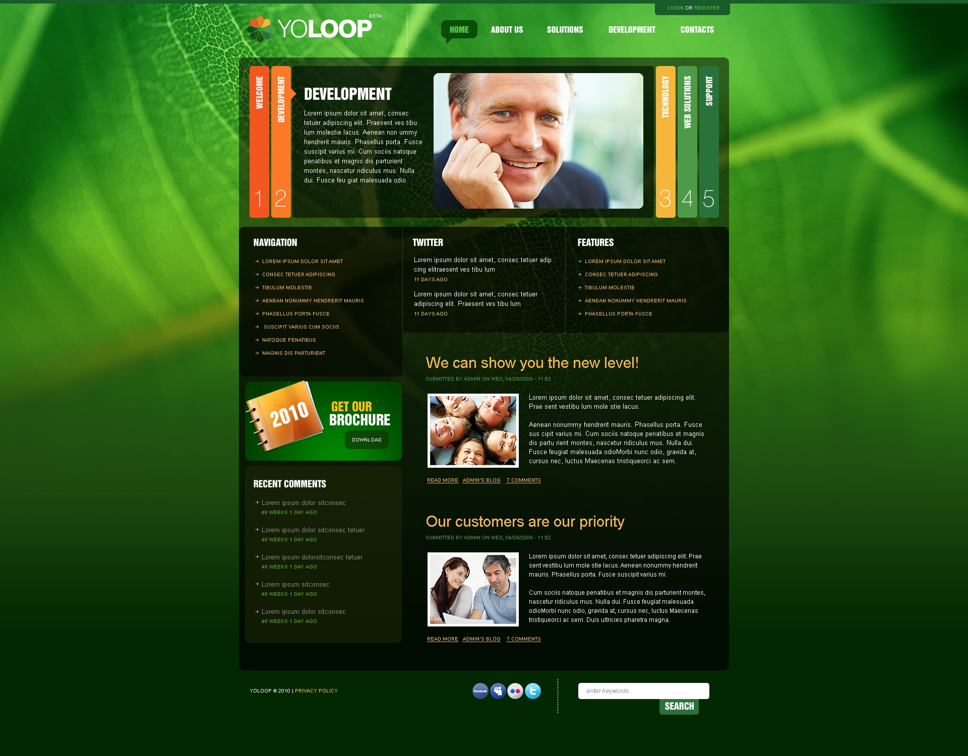 The Yoloop Business Company PSD Design 54488, one of the best PSD templates of its kind (business, wide, jquery), also known as yoloop business company PSD template, corporate solutions PSD template, innovations PSD template, contacts PSD template, service PSD template, support PSD template, information dealer PSD template, stocks PSD template, team PSD template, success PSD template, money PSD template, marketing PSD template, director PSD template, manager PSD template, analytics PSD template, planning PSD template, limited PSD template, office PSD template, sales and related with yoloop business company, corporate solutions, innovations, contacts, service, support, information dealer, stocks, team, success, money, marketing, director, manager, analytics, planning, limited, office, sales, etc.