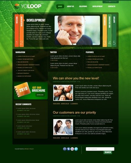 ADOBE Photoshop Template 54488 Home Page Screenshot