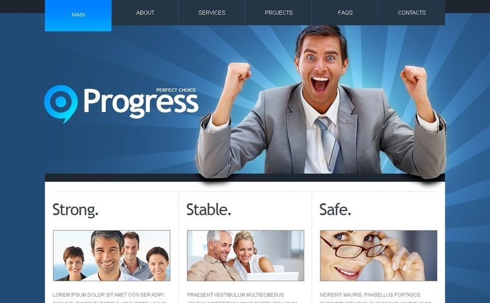 Plantilla PSD #54492 para Sitio de Negocio y Servicios New Screenshots BIG