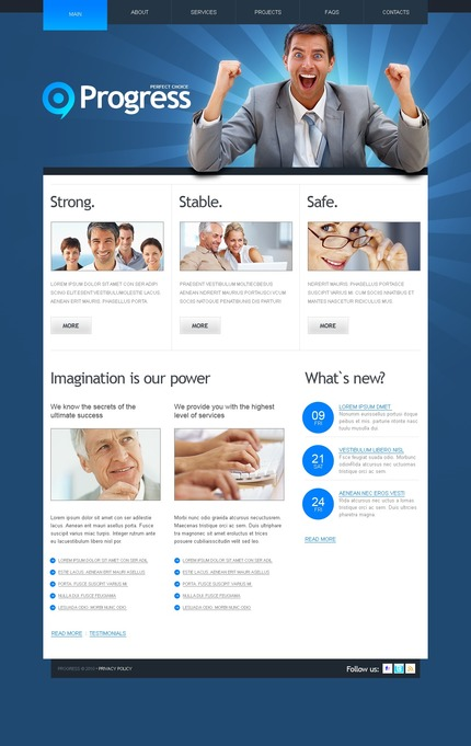 ADOBE Photoshop Template 54492 Home Page Screenshot