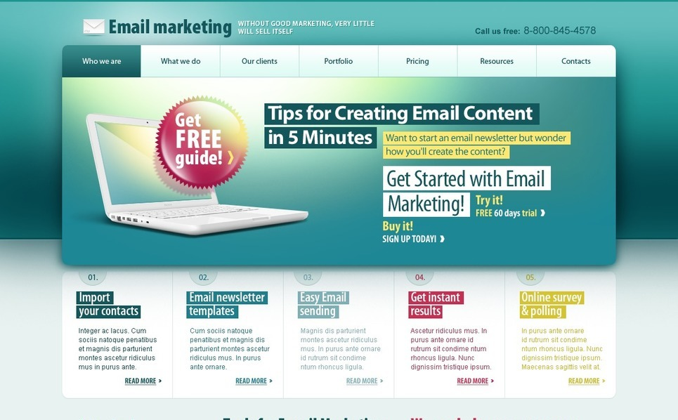 PSD Template over Marketingbureau New Screenshots BIG