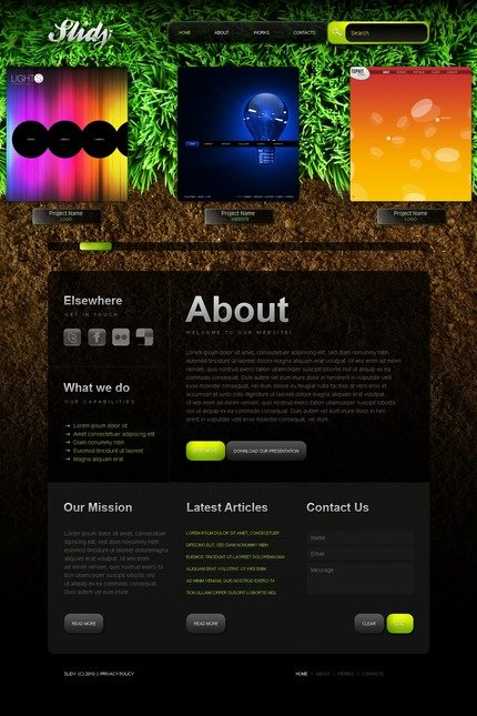 ADOBE Photoshop Template 54494 Home Page Screenshot