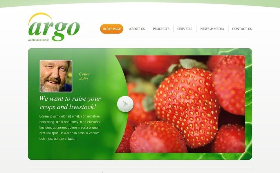 Plantilla PSD #54495 para Sitio de Agricultura New Screenshots BIG