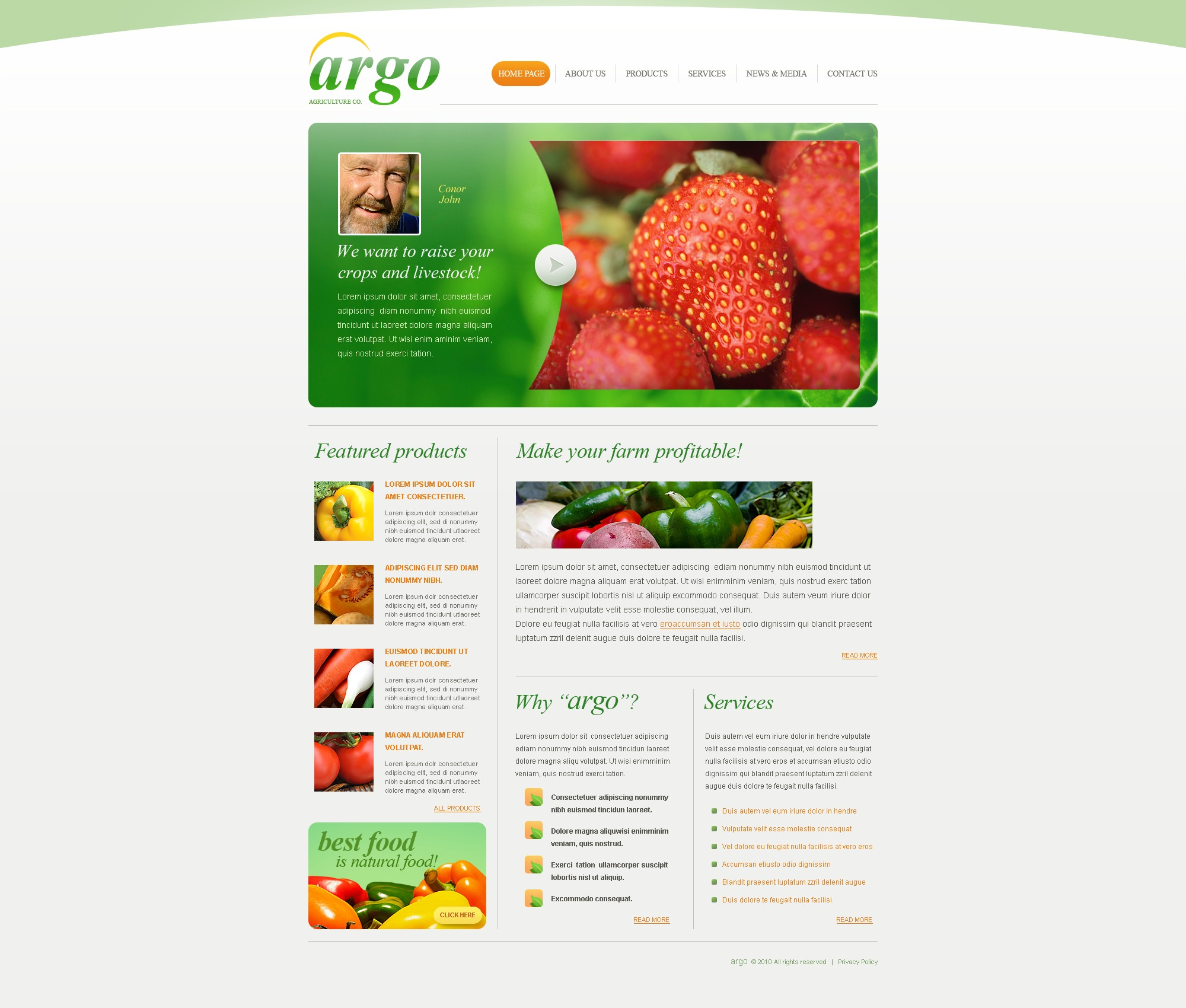 The Agro Agriculture Company PSD Design 54495, one of the best PSD templates of its kind (agriculture, flash 8, wide), also known as agro agriculture company PSD template, business PSD template, grain-crops PSD template, cereals PSD template, field PSD template, combine PSD template, harvest PSD template, farming PSD template, plants PSD template, services PSD template, products solutions PSD template, market PSD template, delivery PSD template, resource PSD template, grassland PSD template, equipment PSD template, nitrates PSD template, fertilizer PSD template, clients PSD template, partners PSD template, innovations PSD template, support PSD template, information dealer PSD template, stocks PSD template, team and related with agro agriculture company, business, grain-crops, cereals, field, combine, harvest, farming, plants, services, products solutions, market, delivery, resource, grassland, equipment, nitrates, fertilizer, clients, partners, innovations, support, information dealer, stocks, team, etc.