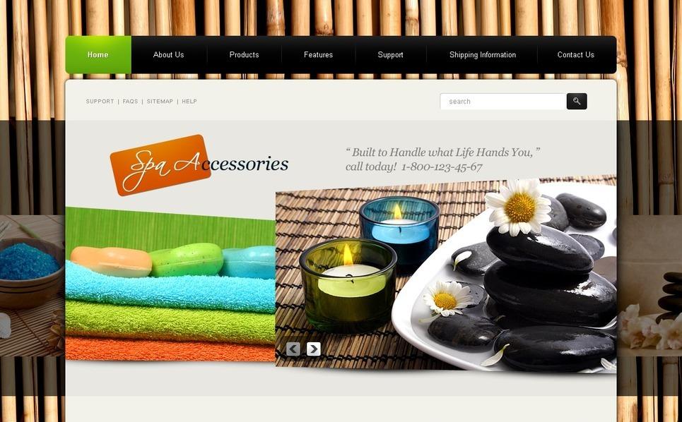 PSD šablona Prodejny příslušenství pro Spa New Screenshots BIG