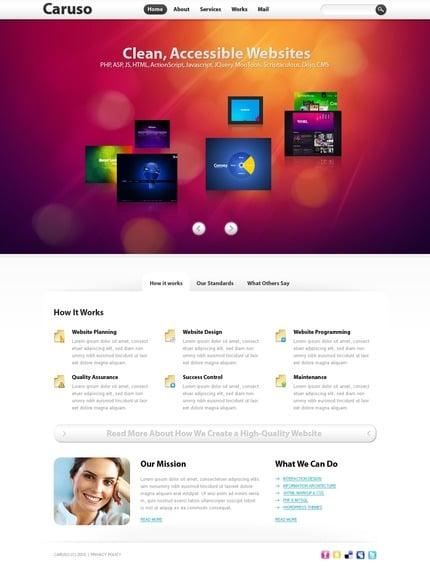ADOBE Photoshop Template 54498 Home Page Screenshot