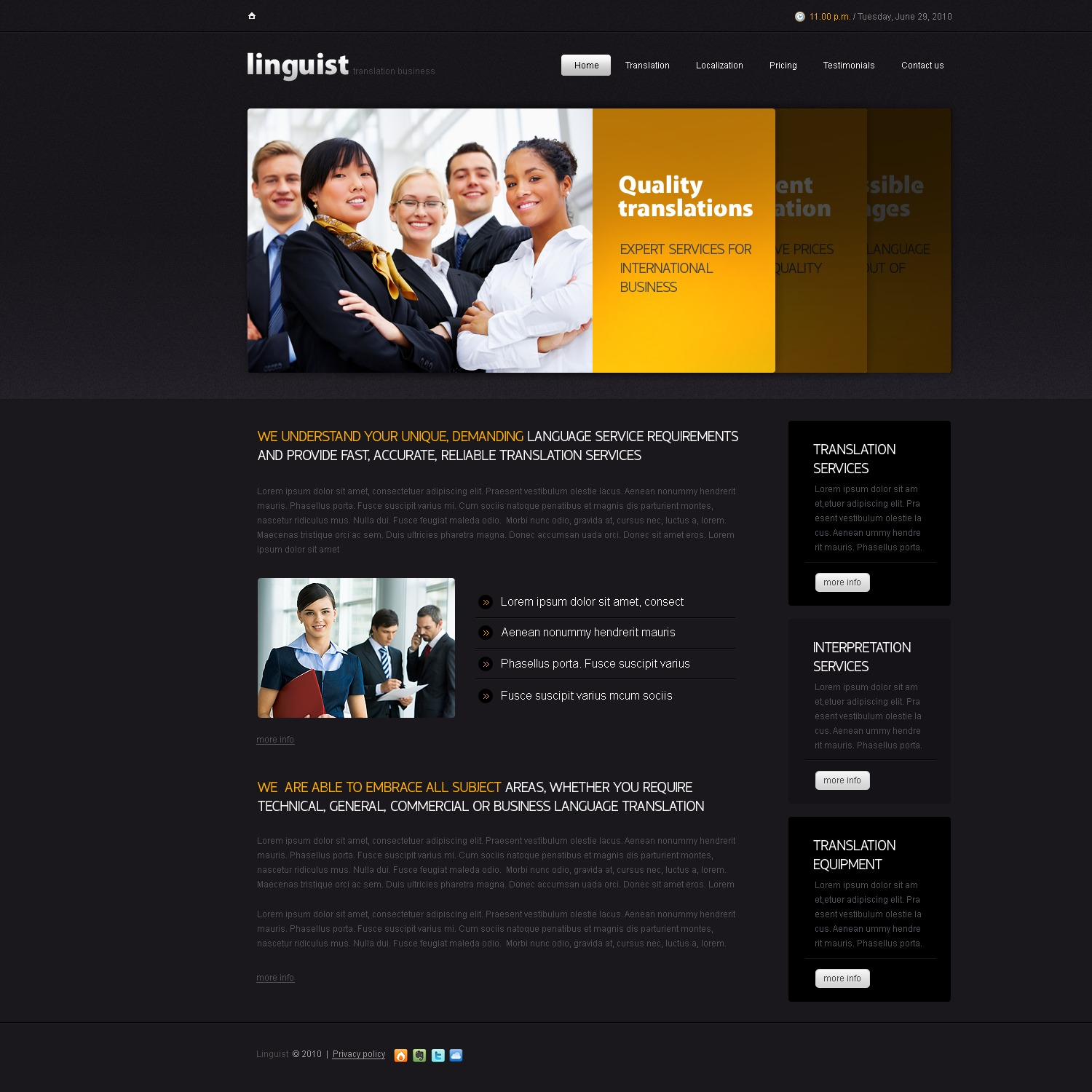 The Linguist Language Center PSD Design 54499, one of the best PSD templates of its kind (education, flash 8, wide), also known as linguist language center PSD template, classes PSD template, learning PSD template, foreign PSD template, teaching PSD template, course PSD template, teacher PSD template, student PSD template, education PSD template, students PSD template, admissions PSD template, academic PSD template, courses PSD template, linguistics PSD template, terms PSD template, terminology PSD template, speech PSD template, communication PSD template, spoken PSD template, language PSD template, translations PSD template, training PSD template, skills PSD template, knowledge PSD template, style PSD template, internationa and related with linguist language center, classes, learning, foreign, teaching, course, teacher, student, education, students, admissions, academic, courses, linguistics, terms, terminology, speech, communication, spoken, language, translations, training, skills, knowledge, style, internationa, etc.