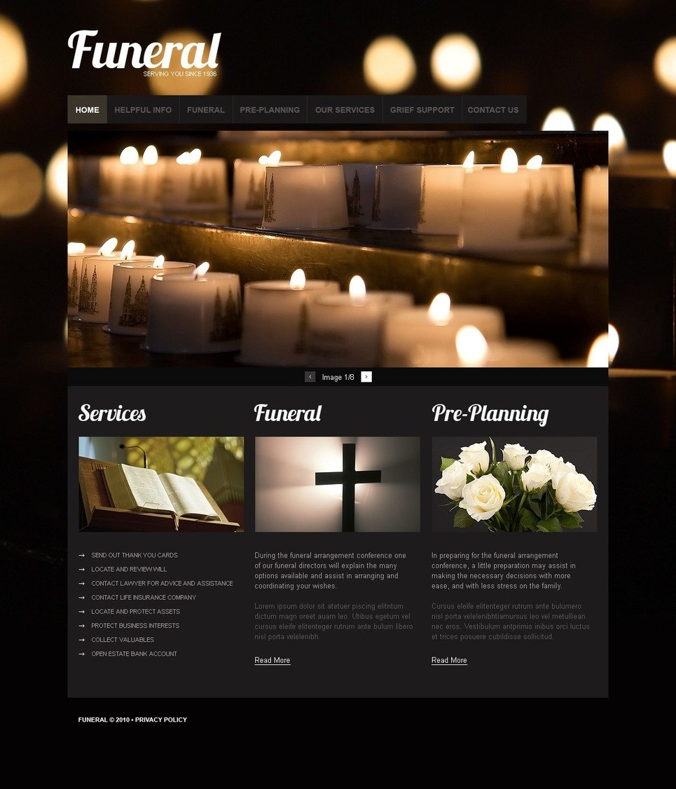 funeral services psd template 54489