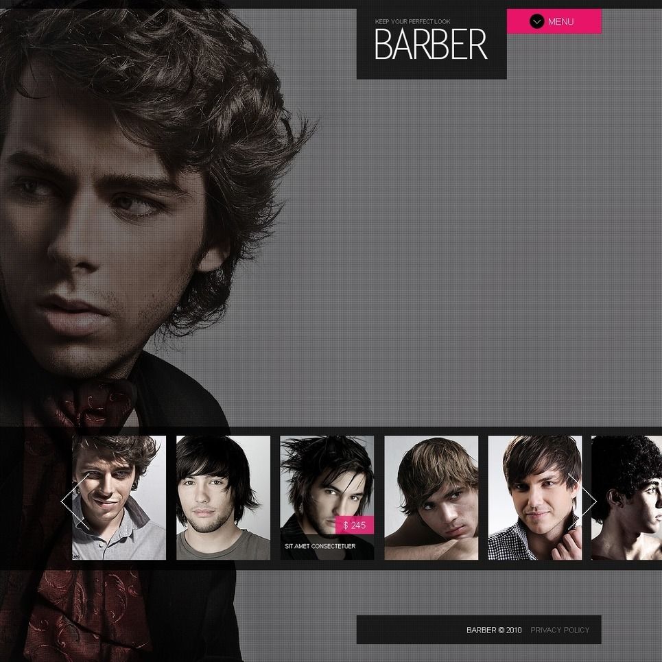 Hair Salon PSD Template New Screenshots BIG