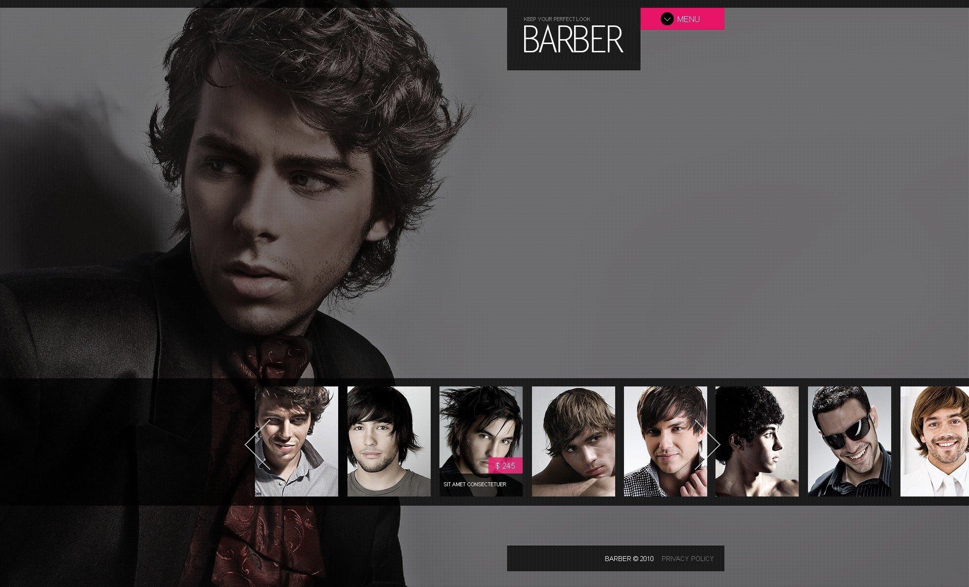 Hair Salon PSD Template - screenshot