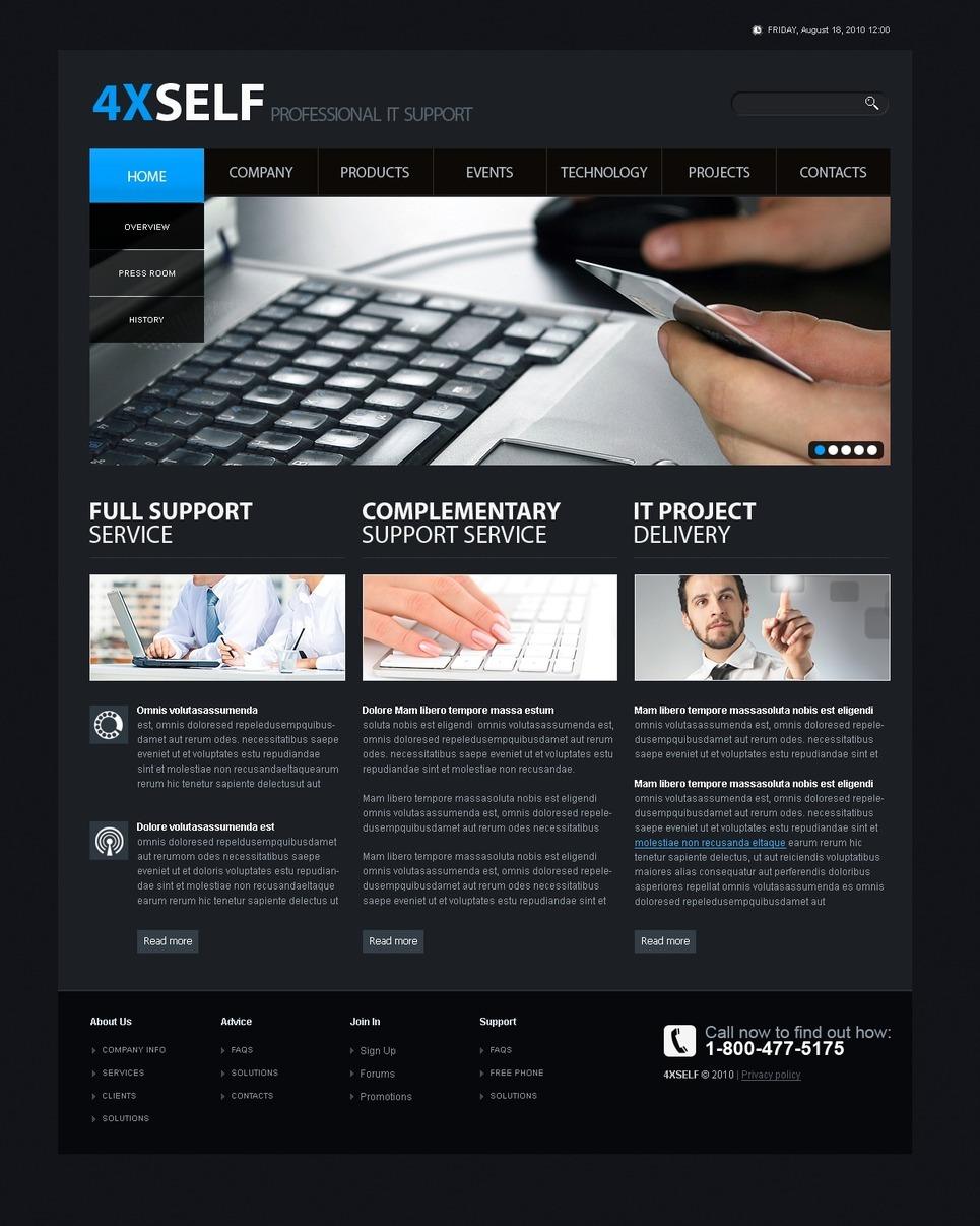 IT PSD Template New Screenshots BIG