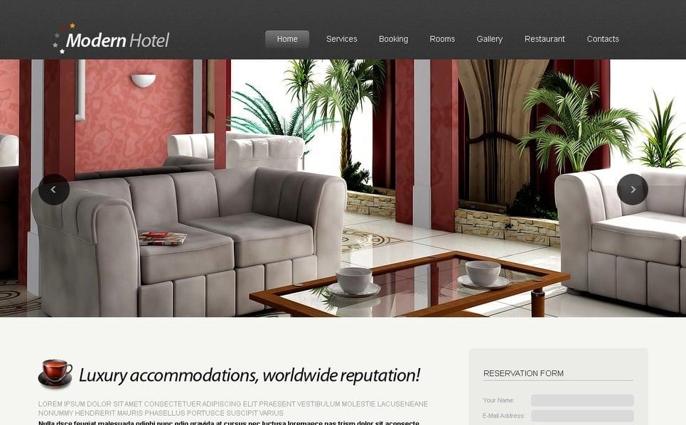 Plantilla PSD #54427 para Sitio de Hoteles New Screenshots BIG