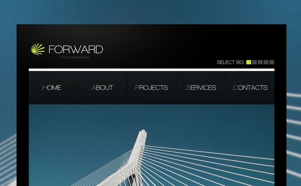PSD шаблон №54444 на тему инженерия New Screenshots BIG