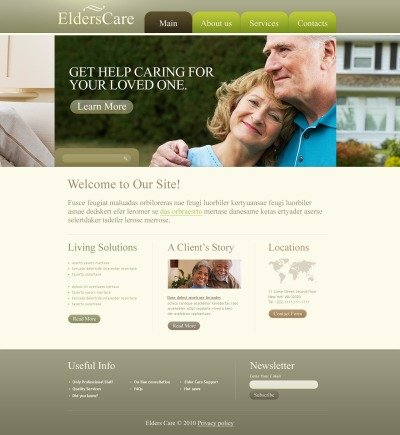 Elderly Care PSD Template