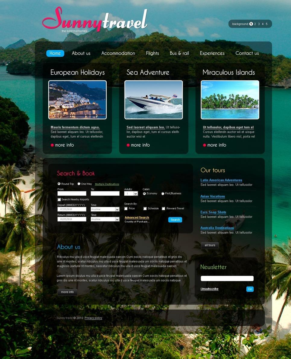 Travel Agency PSD Template New Screenshots BIG