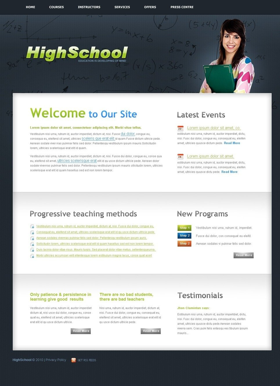 University PSD Template New Screenshots BIG