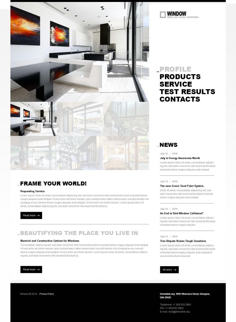 Windows & Doors PSD Template New Screenshots BIG